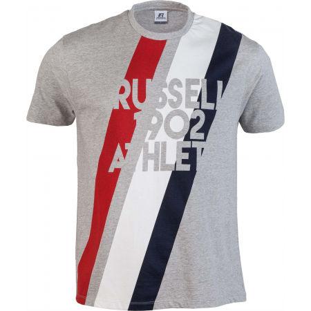 Russell Athletic STRIPE 1902 S/S CREWNECK TEE SHIRT - Pánské tričko