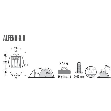 Rekreační stan - High Peak ALFENA 3.0 - 11