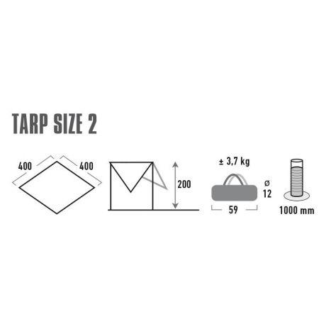 Sluneční clona - High Peak TARP 2 - 3