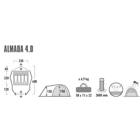 Rekreační stan - High Peak ALMADA 4.0 - 13