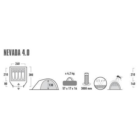 Rekreační stan - High Peak NEVADA 4.0 - 9