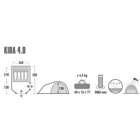Rekreační stan - High Peak KIRA 4.0 - 7