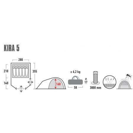 Rodinný stan - High Peak KIRA 5.0 - 7