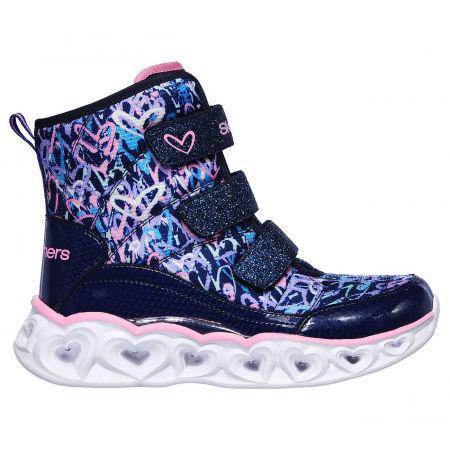 Dívčí zimní boty - Skechers HEART LIGHTS SCRIBBLE - 1