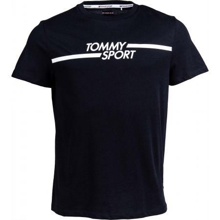 Tommy Hilfiger CORE CHEST GRAPHICS TOP - Pánské tričko