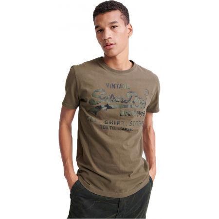 Pánské tričko - Superdry VL SHIRT SHOP BONDED TEE - 1