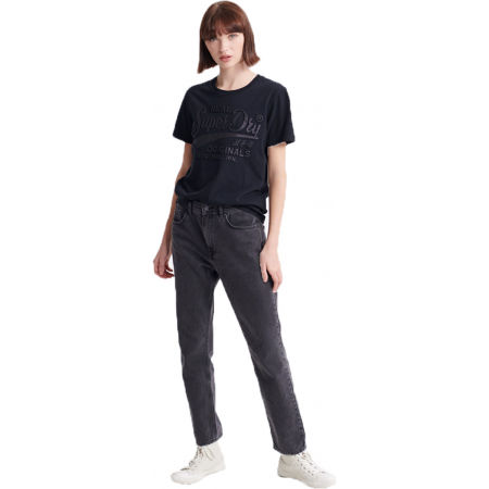 Dámské tričko - Superdry RO GLITTER EMBOSS ENTRY TEE - 1