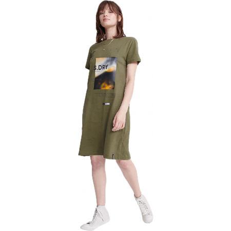 Dámské šaty - Superdry DESERT GRAPHIC T-SHIRT DRESS - 1