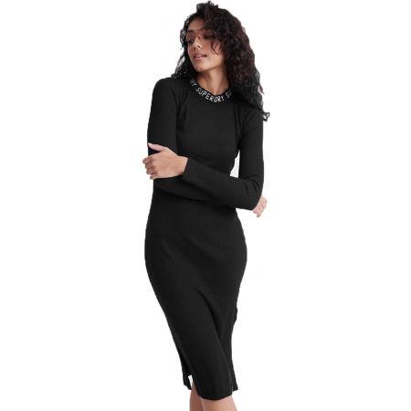 Superdry JACQUARD BODYCON LS MINI DRESS - Dámské šaty