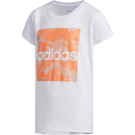 adidas YG CAMO TEE - Dívčí tričko