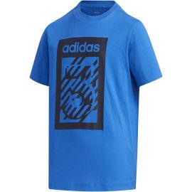 adidas YB BOX TEE - Chlapecké tričko