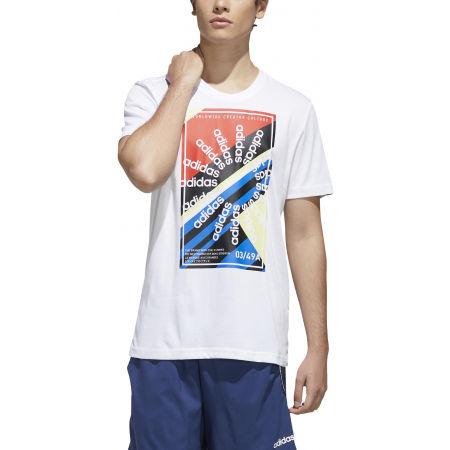 Pánské sportovní tričko - adidas CLIMA SLGN T - 3
