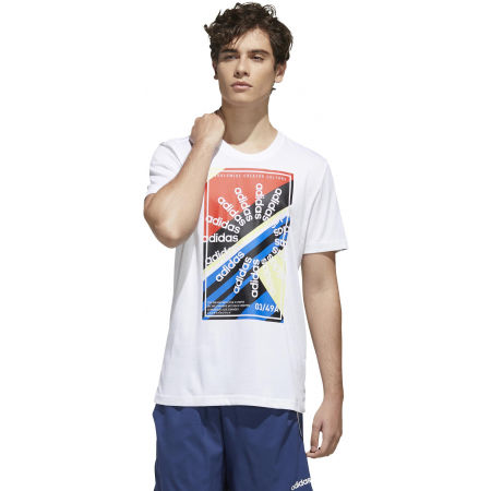 Pánské sportovní tričko - adidas CLIMA SLGN T - 4