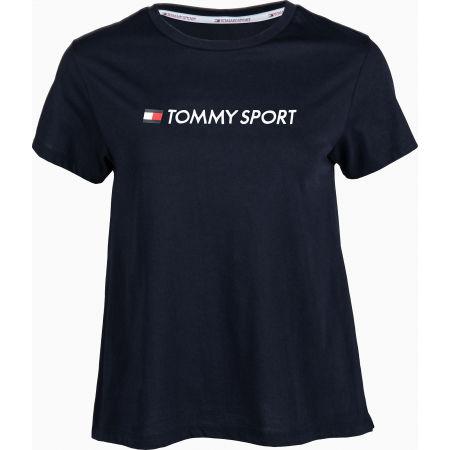 Tommy Hilfiger COTTON MIX CHEST LOGO TOP - Dámské tričko