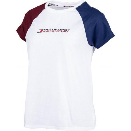 Tommy Hilfiger COTTON MIX TOP LOGO - Dámské tričko