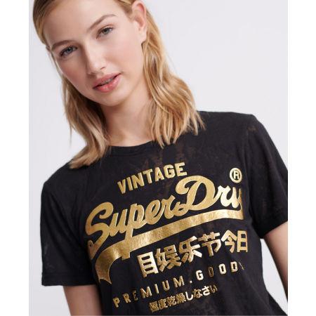 Dámské tričko - Superdry PG SNAKE BURNOUT ENTRY TEE - 3