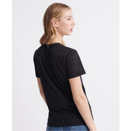 Dámské tričko - Superdry PG SNAKE BURNOUT ENTRY TEE - 2