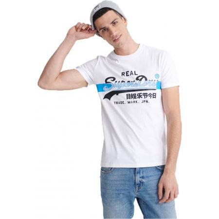 Superdry VL CROSS HATCH TEE - Pánské tričko