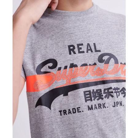 Pánské tričko - Superdry VL CROSS HATCH TEE - 3