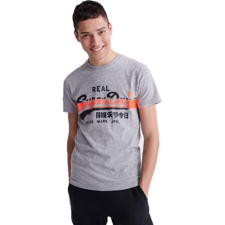 Pánské tričko - Superdry VL CROSS HATCH TEE - 1