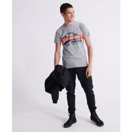 Pánské tričko - Superdry VL CROSS HATCH TEE - 4