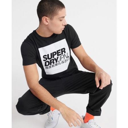 Pánské tričko - Superdry JPN BLOCK TEE - 4