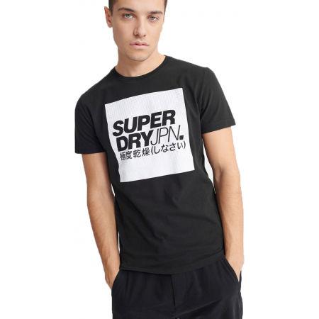 Pánské tričko - Superdry JPN BLOCK TEE - 1