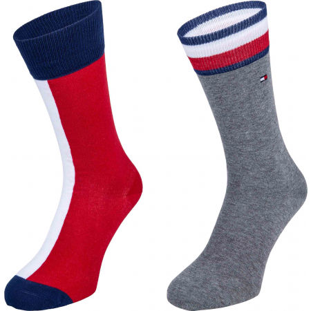 Tommy Hilfiger MEN ICONIC FLAG SOCK 2P - Pánské ponožky