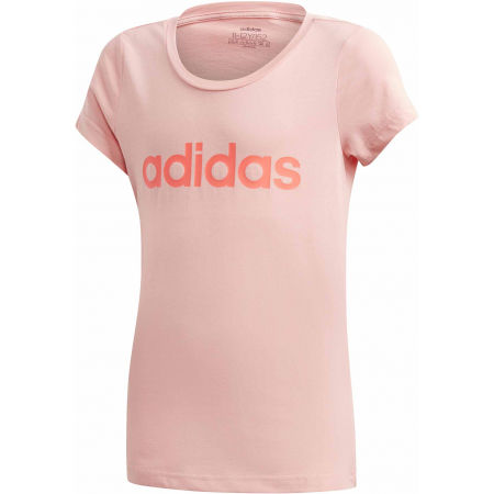 Dívčí triko - adidas YG LINEAR TEE - 1