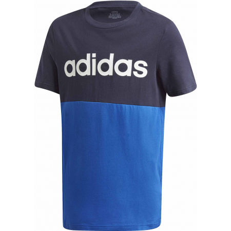 adidas YB LINEAR COLORBLOCK TEE - Juniorské triko
