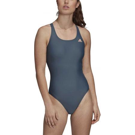 Dámské jednodílné plavky - adidas ATHLY V SOLID SWIMSUIT - 3