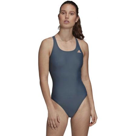 Dámské jednodílné plavky - adidas ATHLY V SOLID SWIMSUIT - 4