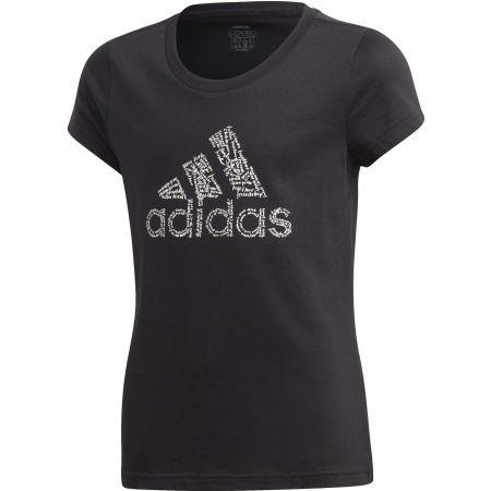 adidas YG BADGE OF SPORT TEE - Dívčí tričko