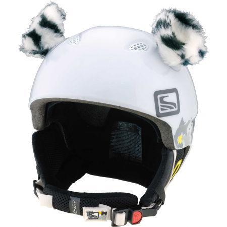 Uši na helmu - Crazy Ears TYGR BÍLÝ