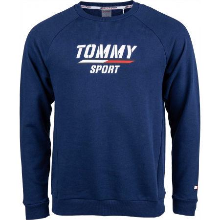 Tommy Hilfiger PRINTED FLEECE CREW - Pánská mikina