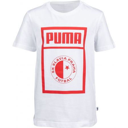Juniorské triko - Puma SLAVIA PRAGUE GRAPHIC TEE JR - 1