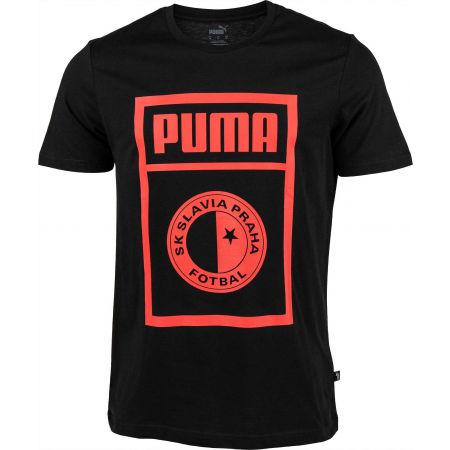 Pánské triko - Puma SLAVIA PRAGUE GRAPHIC TEE - 1