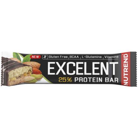 Nutrend EXCELENT MANDLE+PISTÁCIE 85g - Proteinová tyčinka