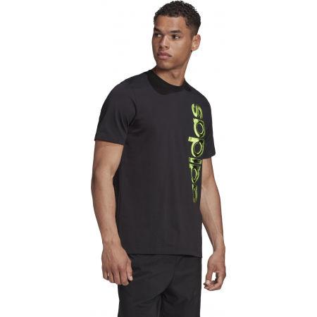 Pánské tričko - adidas HYPERREAL VERTICAL LOGO TEE - 5
