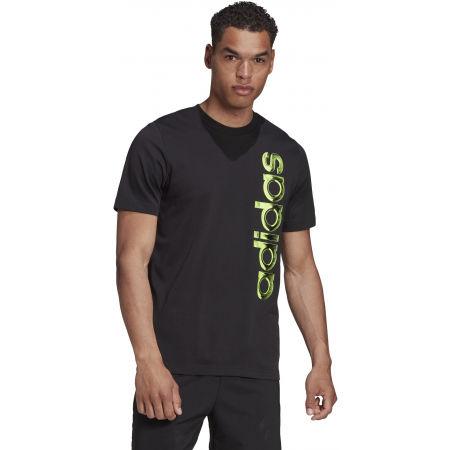 Pánské tričko - adidas HYPERREAL VERTICAL LOGO TEE - 4