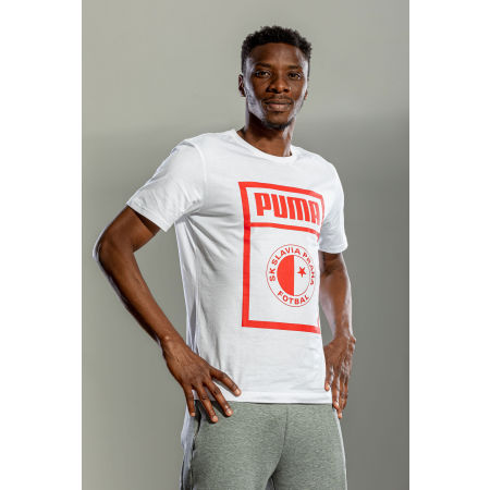 Juniorské triko - Puma SLAVIA PRAGUE GRAPHIC TEE JR - 4