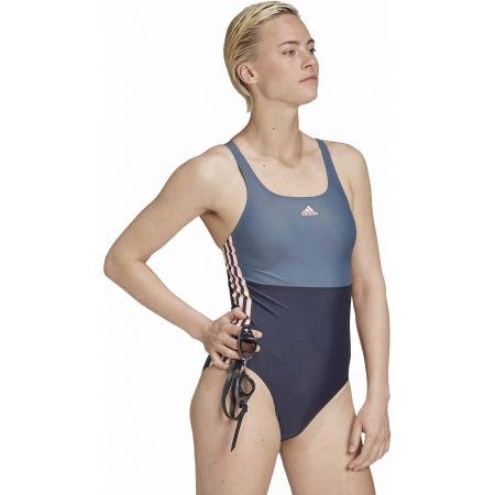 Dámské jednodílné plavky - adidas SH3.RO COLORBLOCK 3S SWIMSUIT - 6