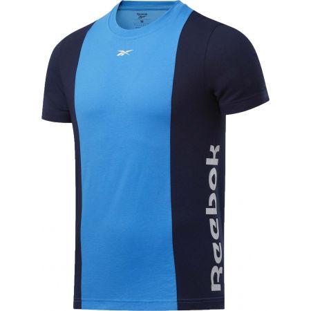 Reebok TE LL SS BLOCKED TEE - Pánské tričko