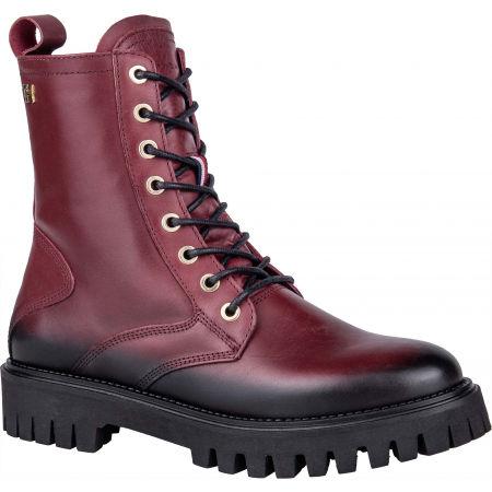 Dámská kožená obuv - Tommy Hilfiger SHADED LEATHER TH BOOTIE - 1