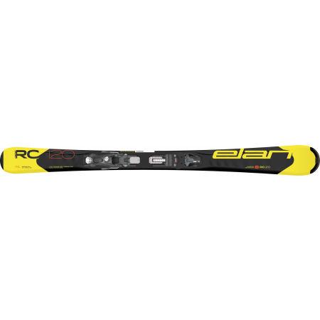 Juniorské sjezdové lyže - Elan RC RACE YELLOW/BLACK QS + EL 7.5 BLK - 2