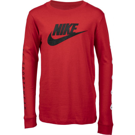 Nike NSW TEE LS FUTURA B - Chlapecké tričko s dlouhým rukávem