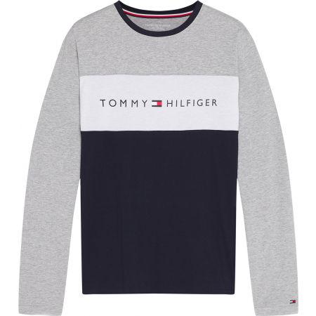 Tommy Hilfiger CN LS TEE LOGO FLAG - Pánské tričko s dlouhým rukávem