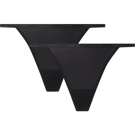 Dámské kalhotky - Calvin Klein STRING BIKINI 2PK