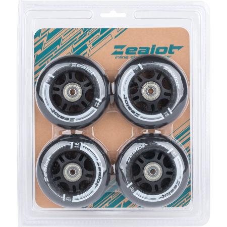 Sada in-line koleček s ložisky - Zealot 84-82A WHEELS + BEARINGS 4PCS - 2