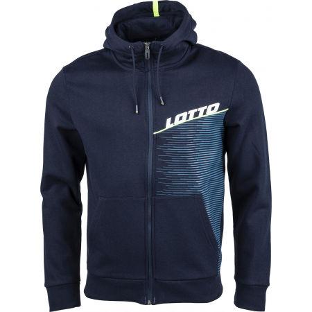 Lotto LOGO IV SWEAT FZ HD FL - Pánská mikina